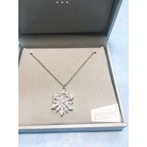 Talbots Swarovski Crystal Snowflake Necklace NWT